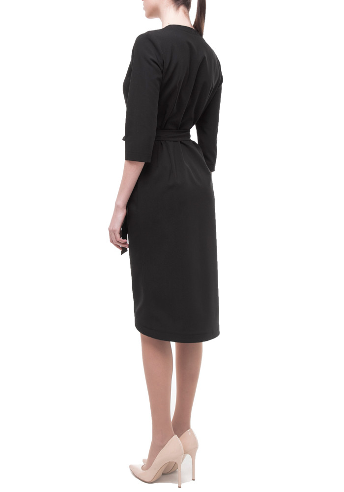 Wrap dress in black Central