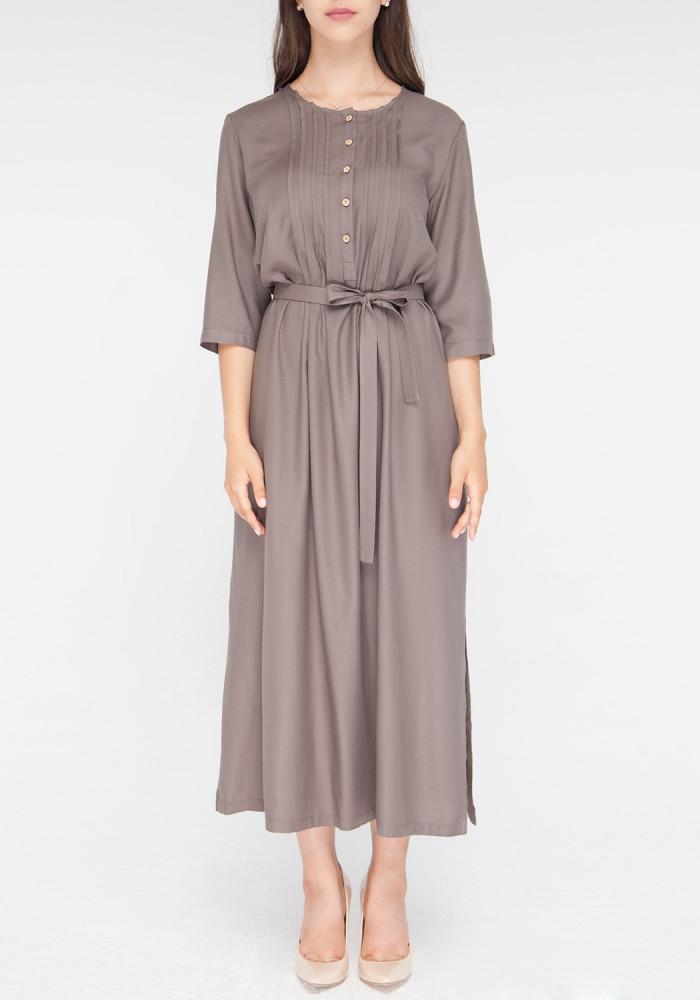 "Платье-рубашка""Консуэлла"" мокко с поясом"