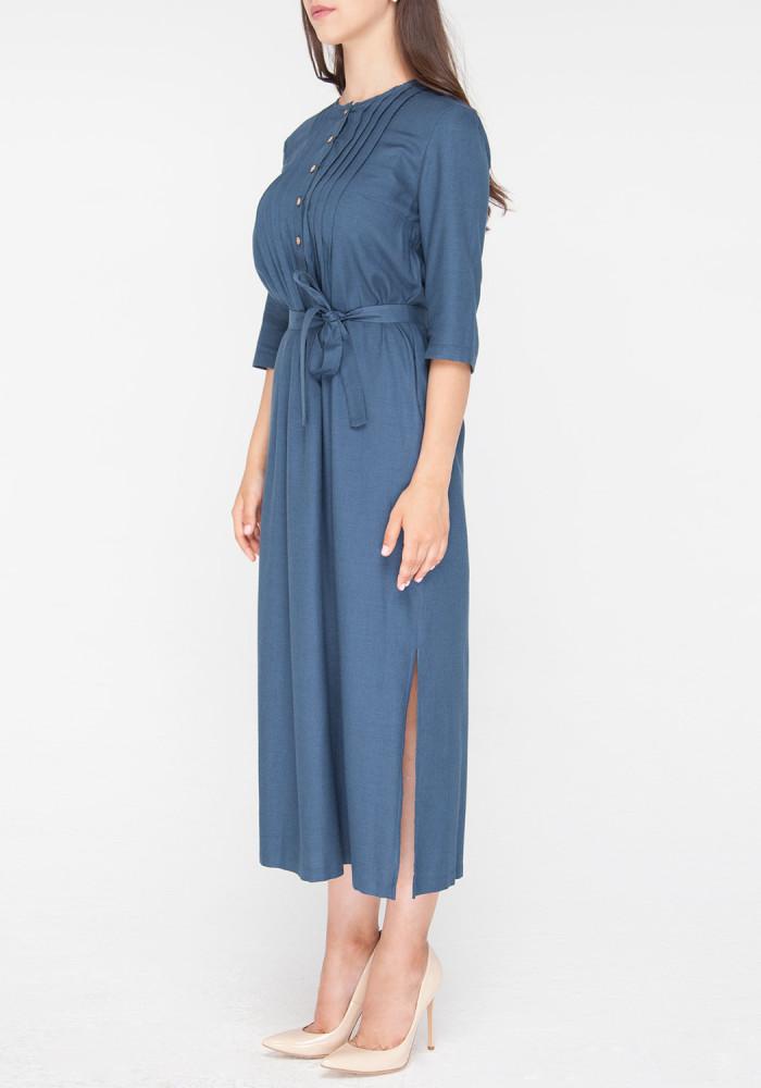 "Сукня-сорочка ""Консуела"" з поясом блакитна"