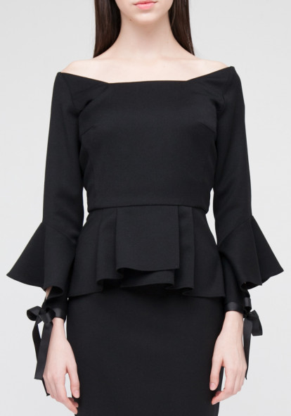 Top with frill  black limited edition Cruchon