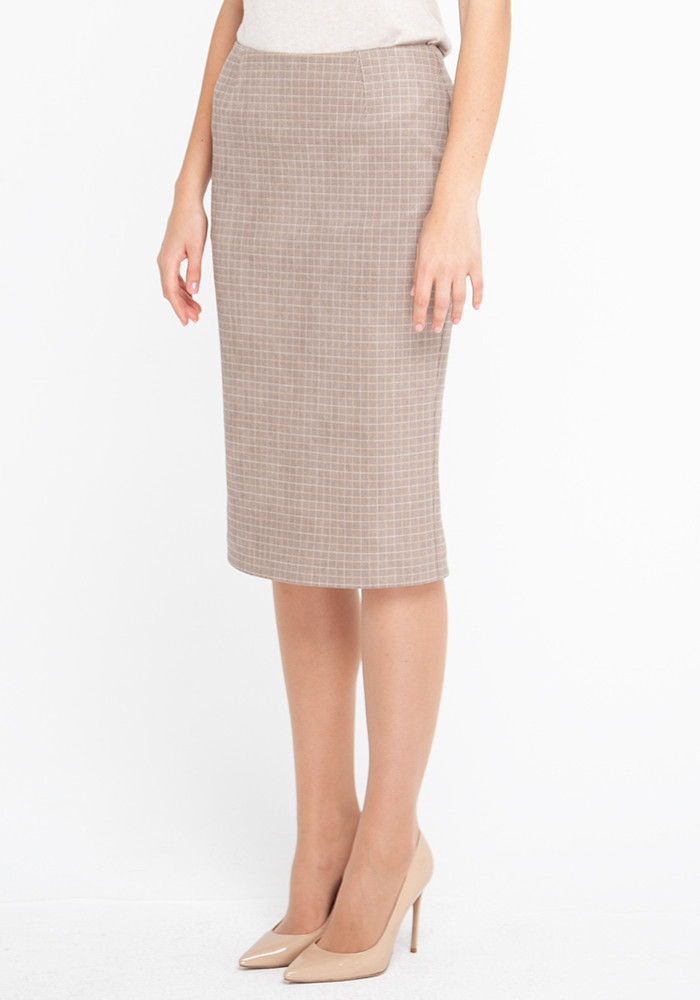 Skirt  beige in a cage Milicent 21