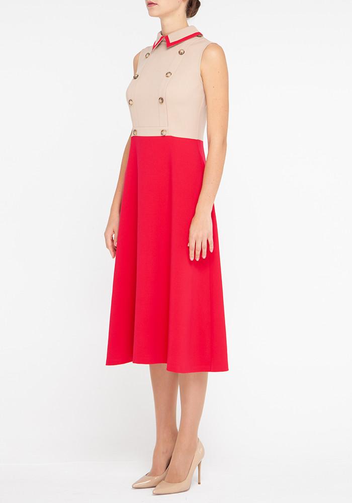 """Платье-трансформер малинового цвета """"Контент"""""""