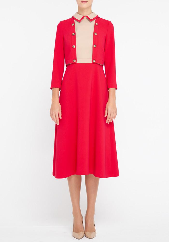 "Crimson transforming dress ""Content"""