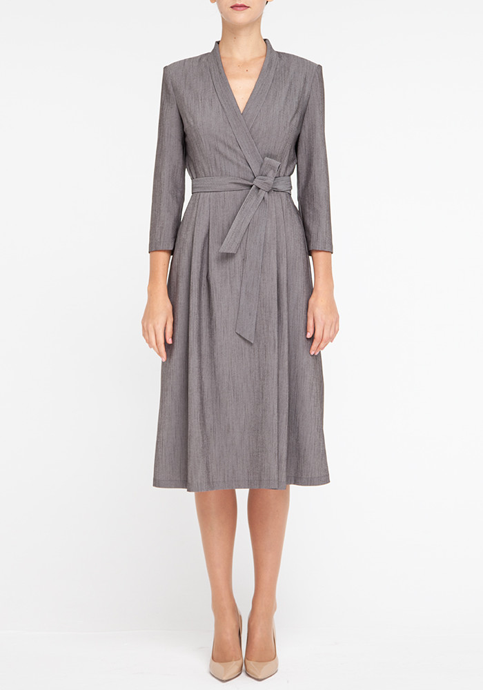 "Gray wrap dress ""Lydia21"""