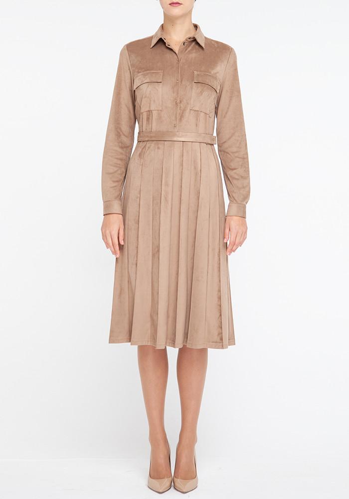 """Розкльошені плаття """"Ель-Торо"""" бежевого кольору"""
