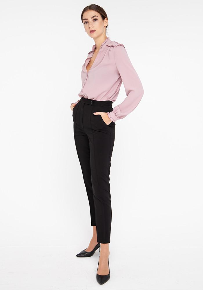 """Зауженные брюки """"Клинт"""" чёрного цвета"""