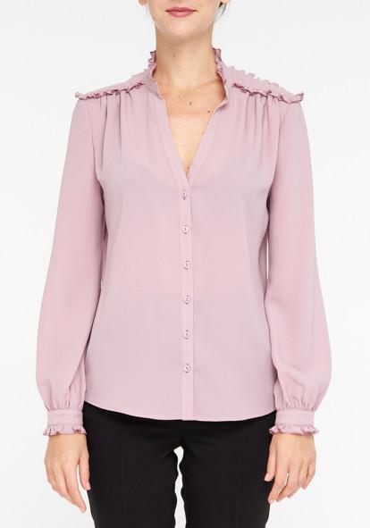 """Блуза с длинными рукавами  """"Сальвадор"""" розового цвета"""