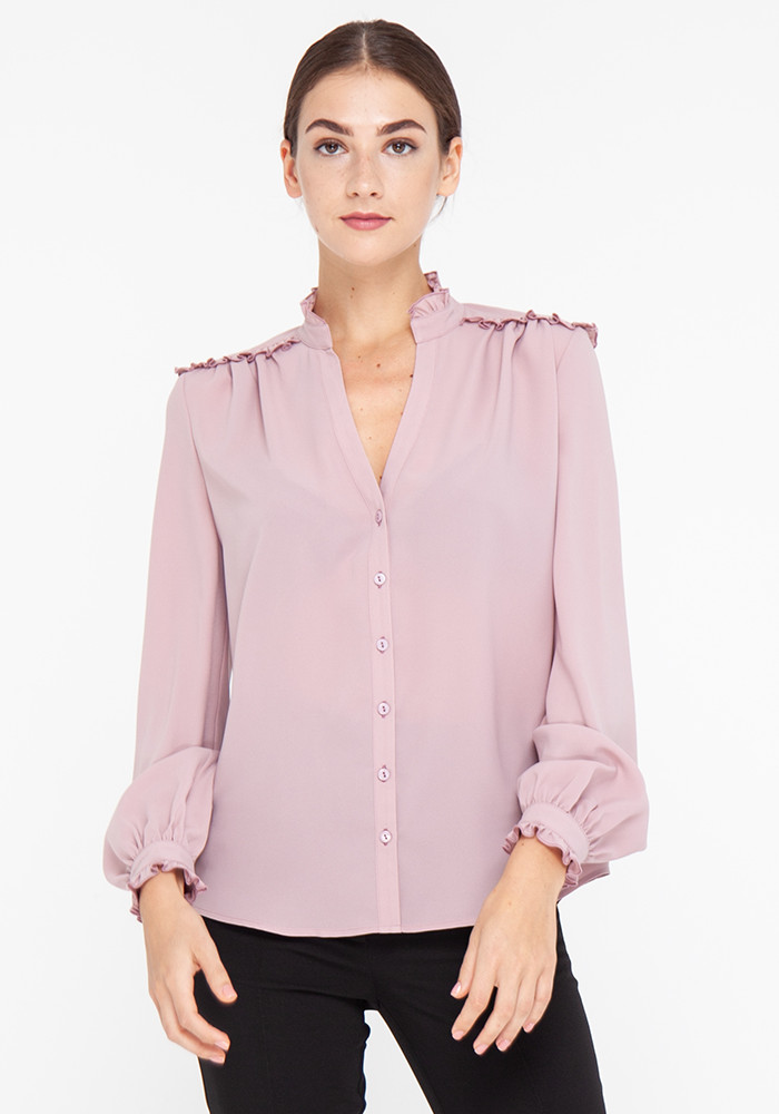 """Блуза з довгими рукавами """"Сальвадор"""" рожевого кольору"""