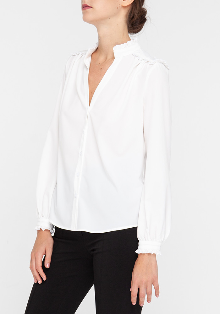 Milky blouse with long sleeves  Salvador