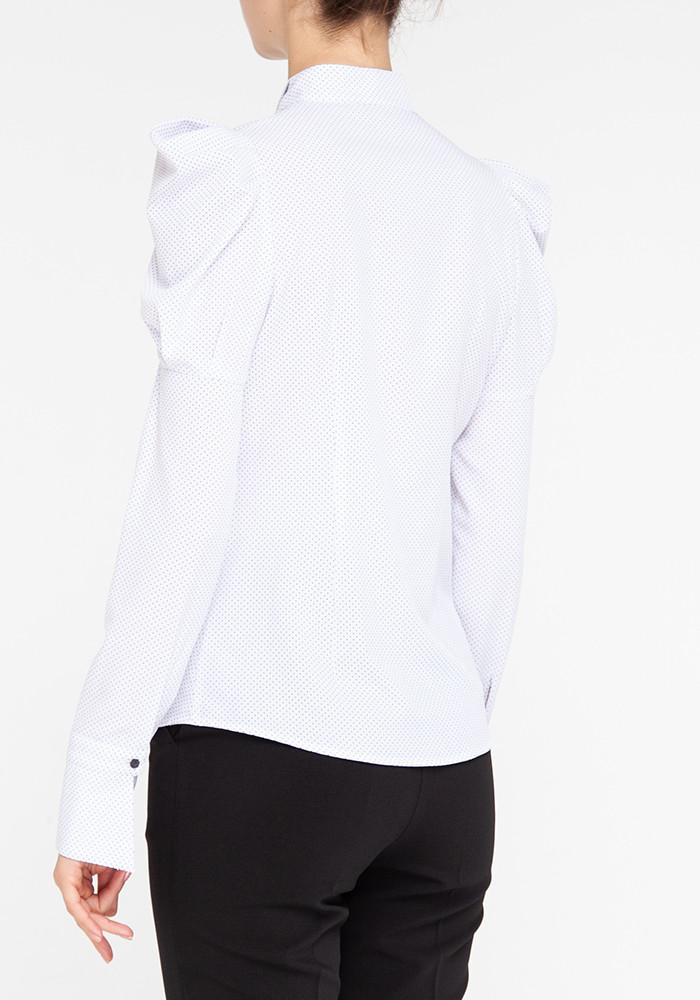 """Блуза біла у дрібний горох """"Касабланка"""""""