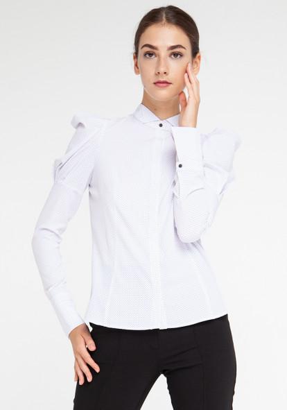 """Блуза белая в мелкий горох  """"Касабланка"""""""