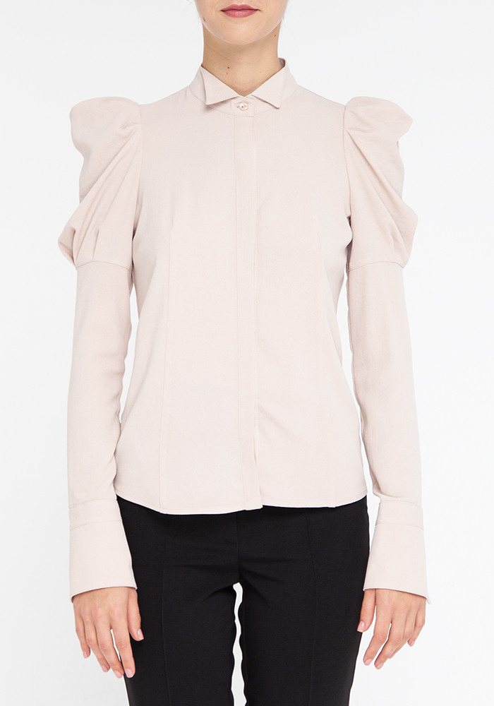 "Blouse with long sleeves beige ""Casablanca"""