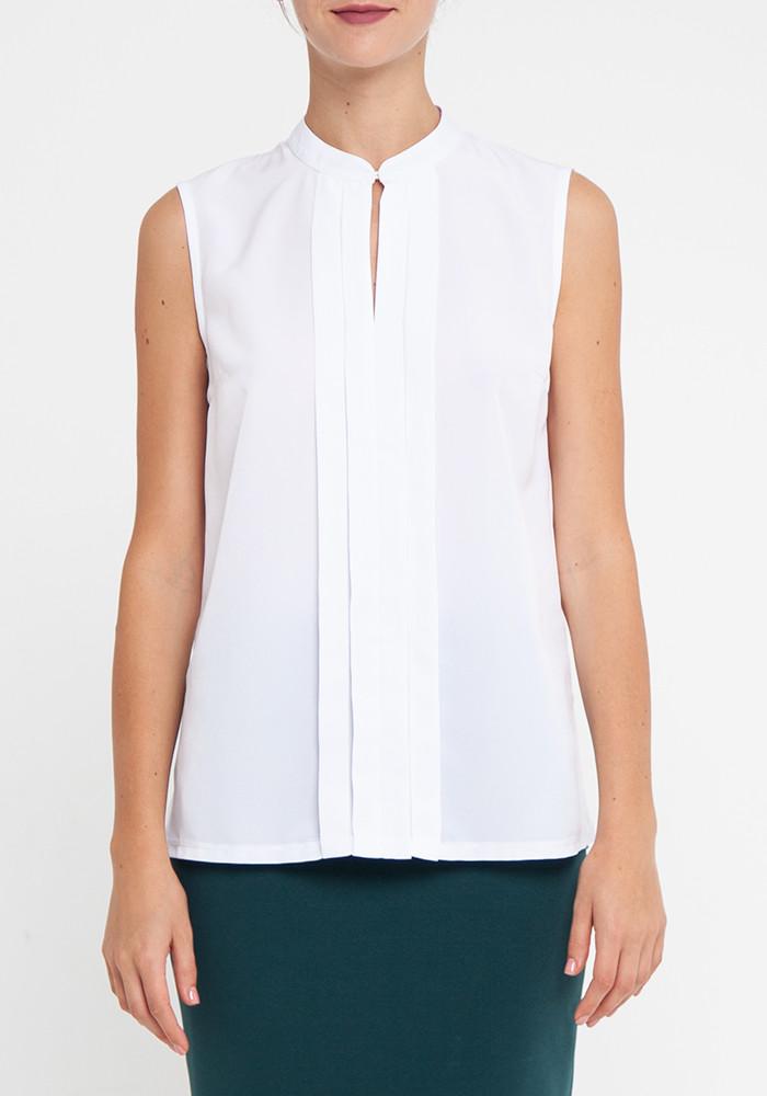 "Light blouse of milk color ""Reimi"""