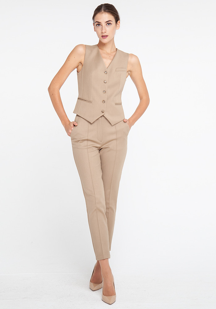 Tapered trousers beige Clint