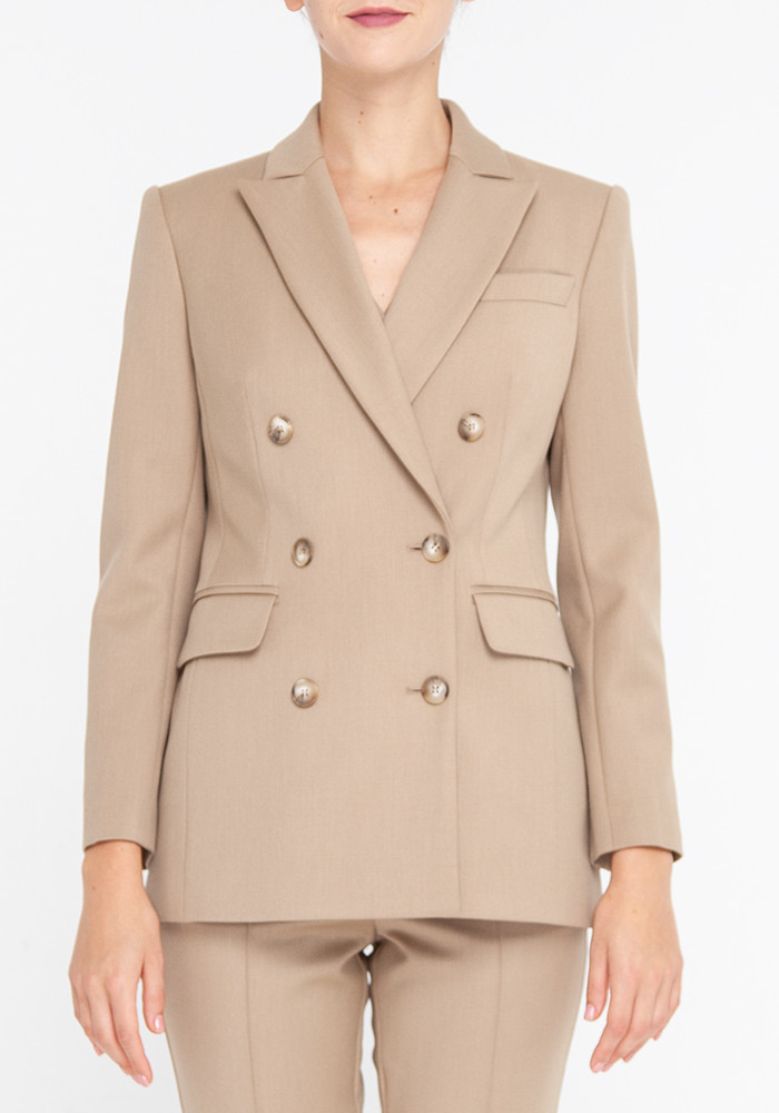 Elongated jacket beige Chester