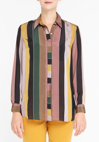 """Рубашка с длинными рукавами """"Боссо"""" с принтом в полоску"""