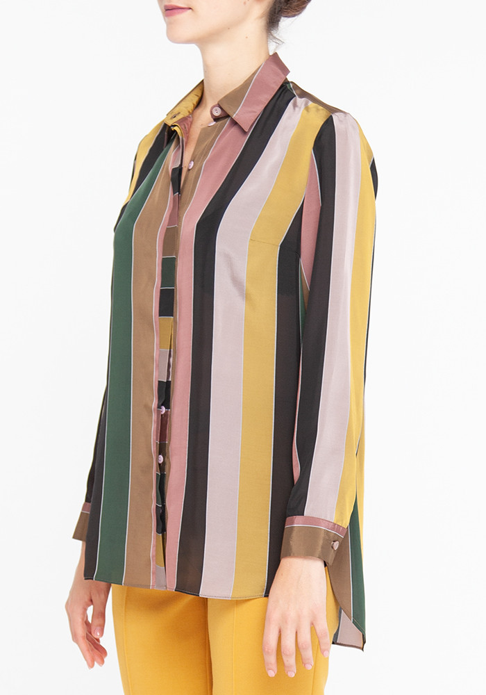 Long Sleeve shirt With Striped Print Bosso