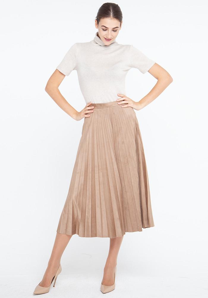 Skirt pleated beige Gеуte