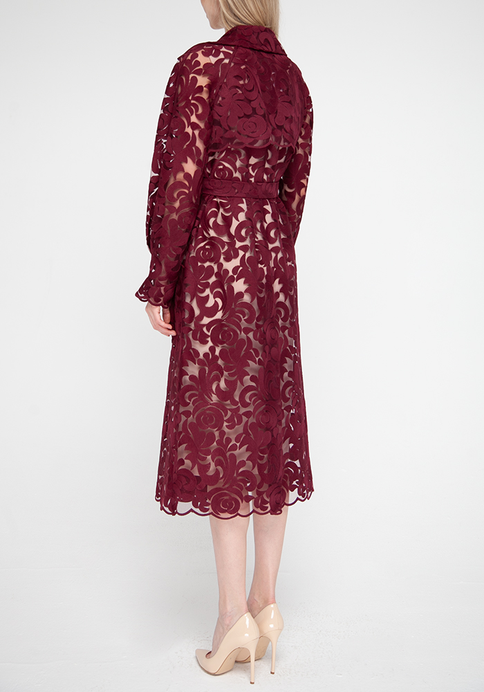 "Set: openwork cape and sheath dress ""Mulan"""