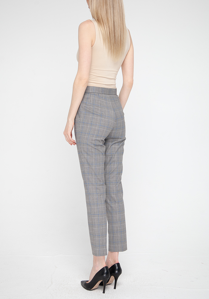 Tapered  trousers with check print Clint