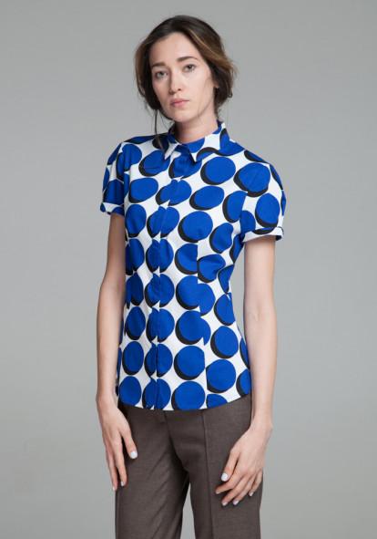 """Бавовняна сорочка """"Чізано-2"""" із принтом"""