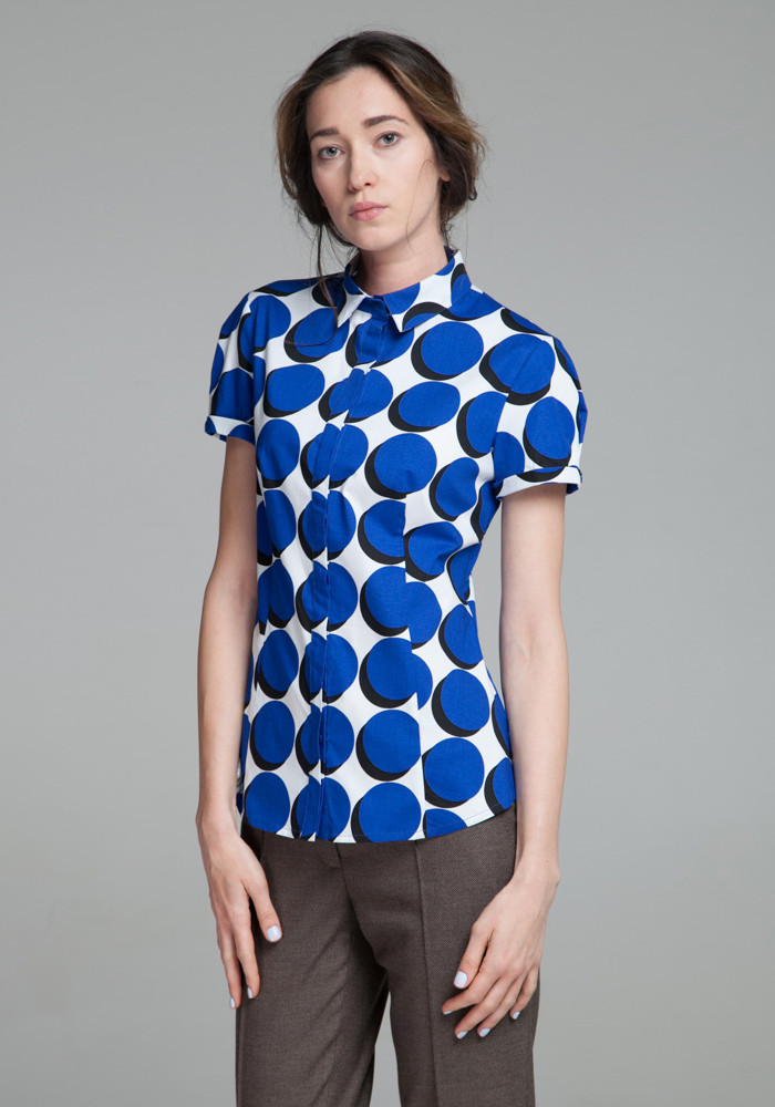 Cotton blouse with a print Chizano-2