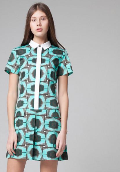 Рrinted combo dress Courtney