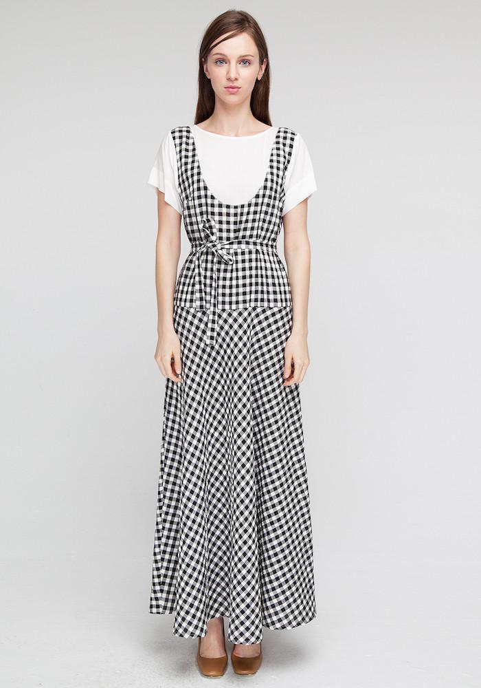 """Сукня в чорно-білу клітинку """"Фолонарі"""""""