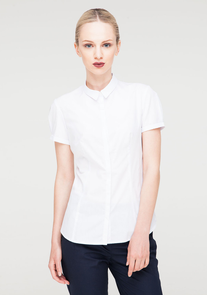 Cotton blouse white Chizana-2