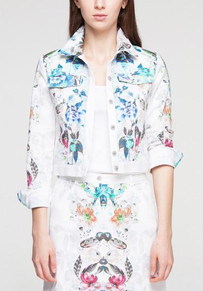 Blue Floral Jacket Juliot