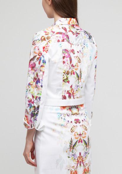 Short jacket with floral print  Juliot