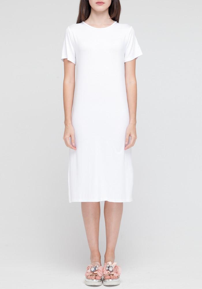 """Трикотажное платье """"Гранд"""" белое"""