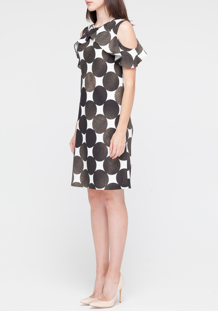 Dress with print in circles Amber
