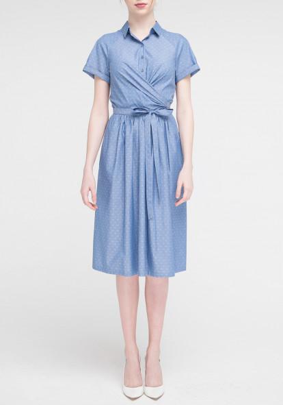 Blue Flared Dress Maestro