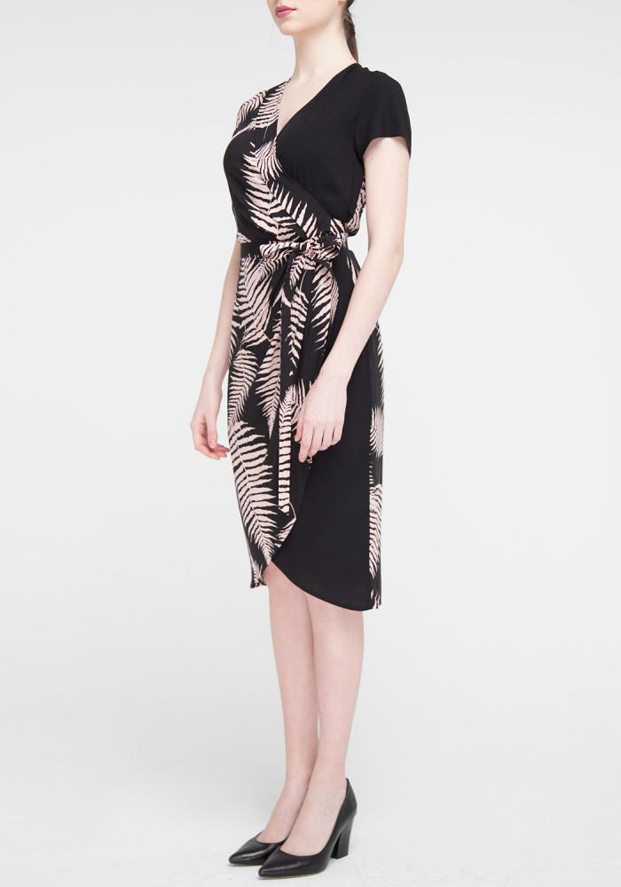 "Сукня ""Амега"" чорна з принтом"