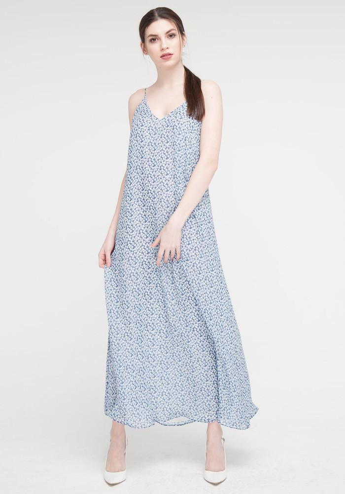 "Sundress ""A"" silhouette blue"