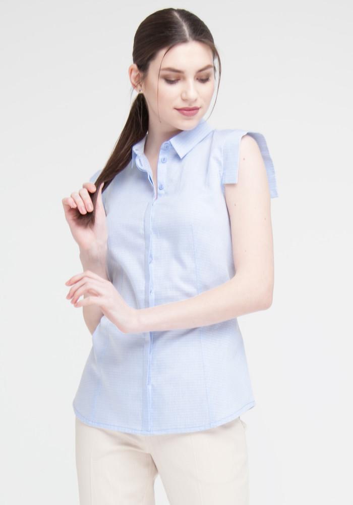 """Блакитна сорочка з короткими рукавами """"Селін"""""""