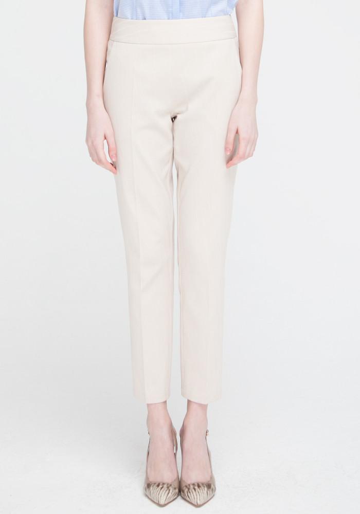 """Зауженные брюки бежевого цвета """"Ибби 2"""""""