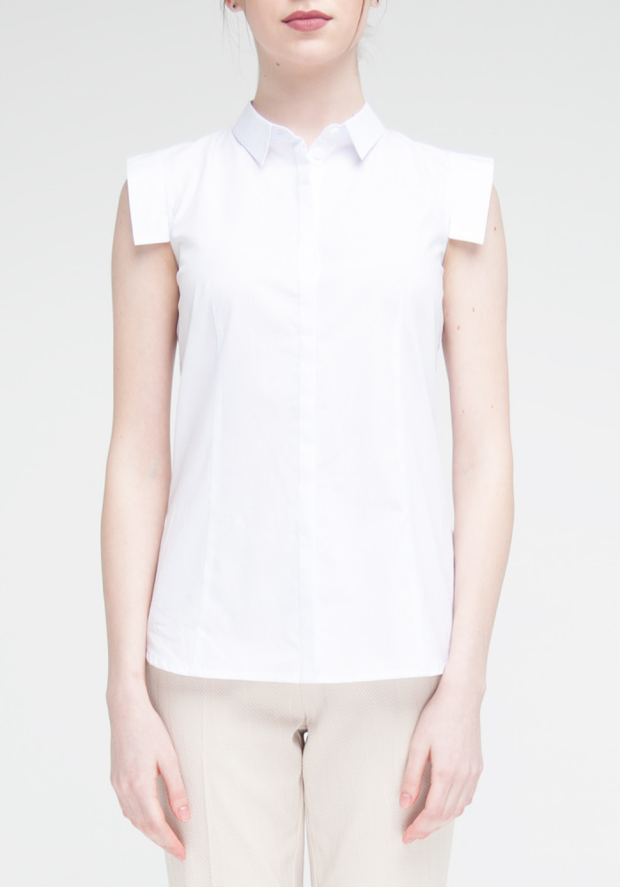 White short-sleeved blouse