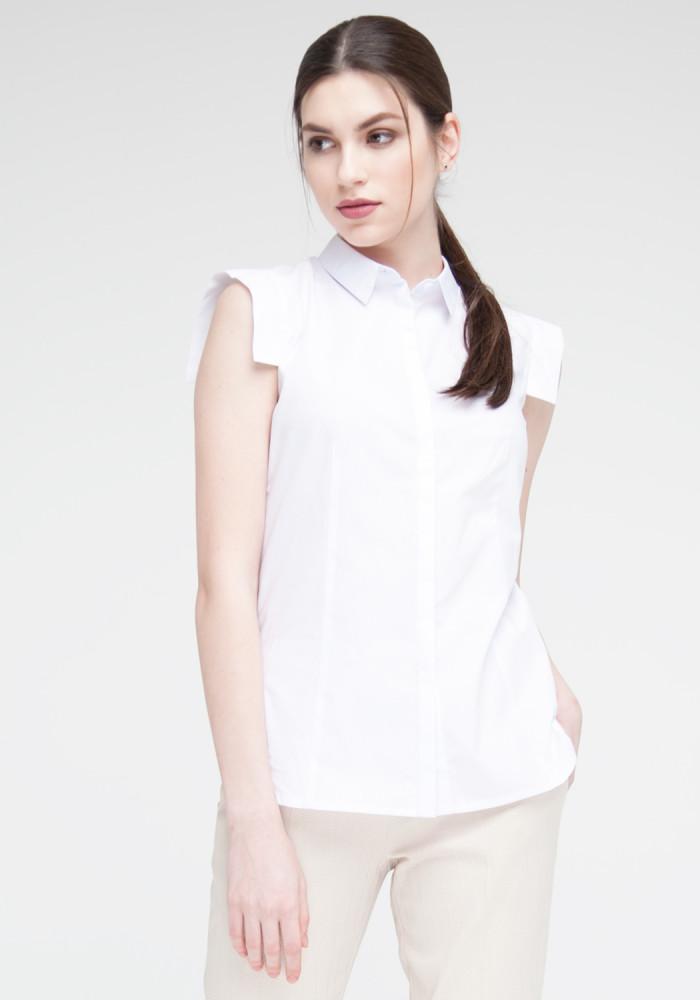 """Біла сорочка з короткими рукавами """"Селін"""""""