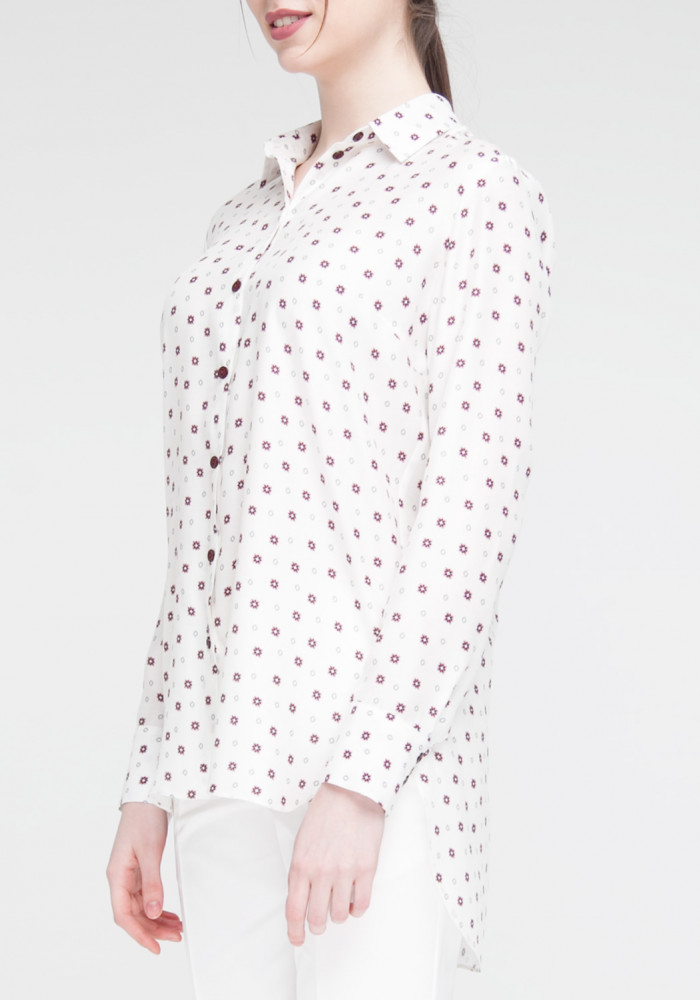 Long sleeve blouse with star print