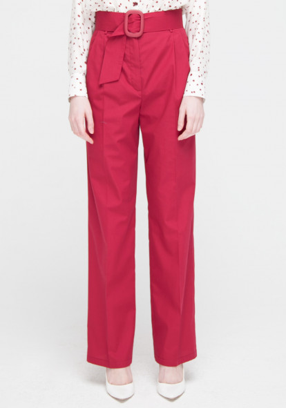 """Широкие брюки бордового цвета """"Бельведер"""""""