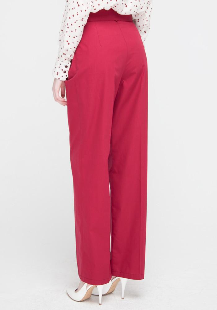 """Широкі штани бордового кольору """"Бельведер"""""""