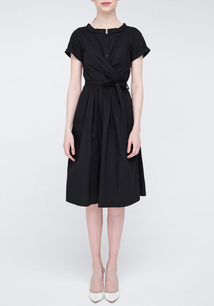 """Розкльошене плаття чорного кольору """"Шанталь"""""""