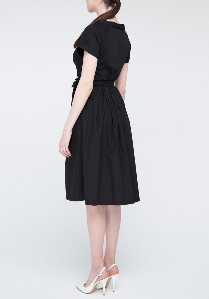 Flared Dress in black Shantal