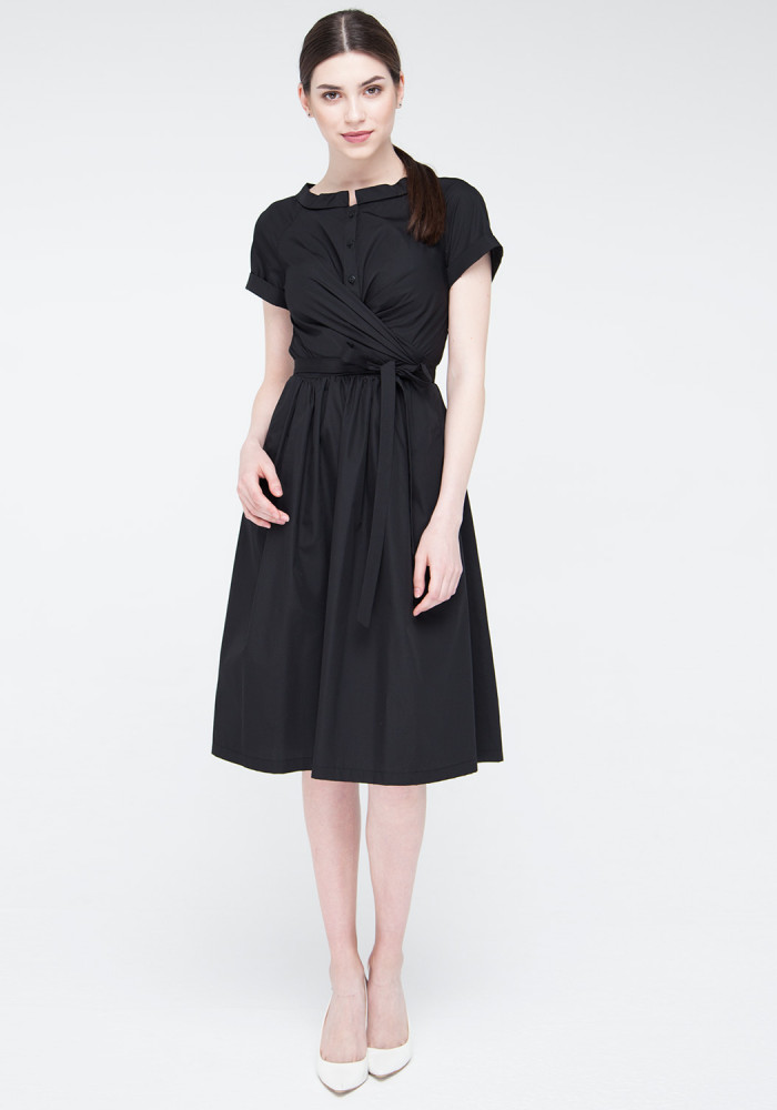 Flared Dress in black Shantal