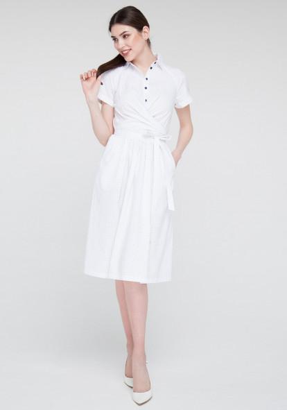Flared white dress Maestro