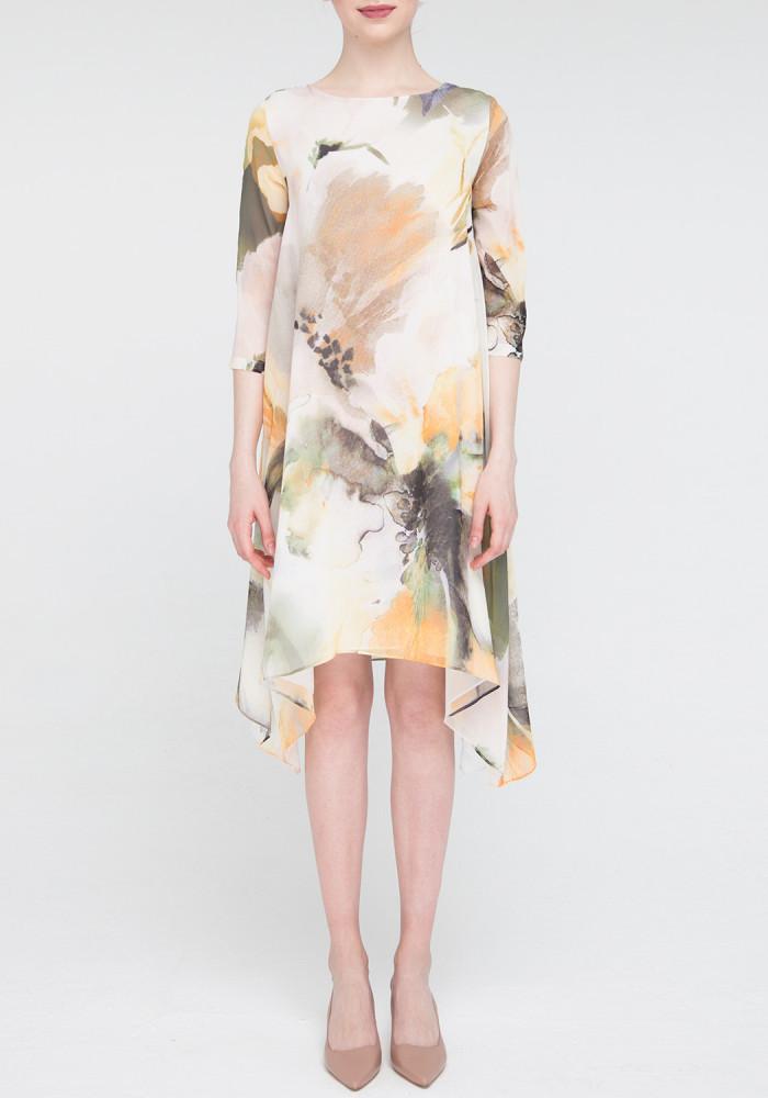 A-line dress watercolor print