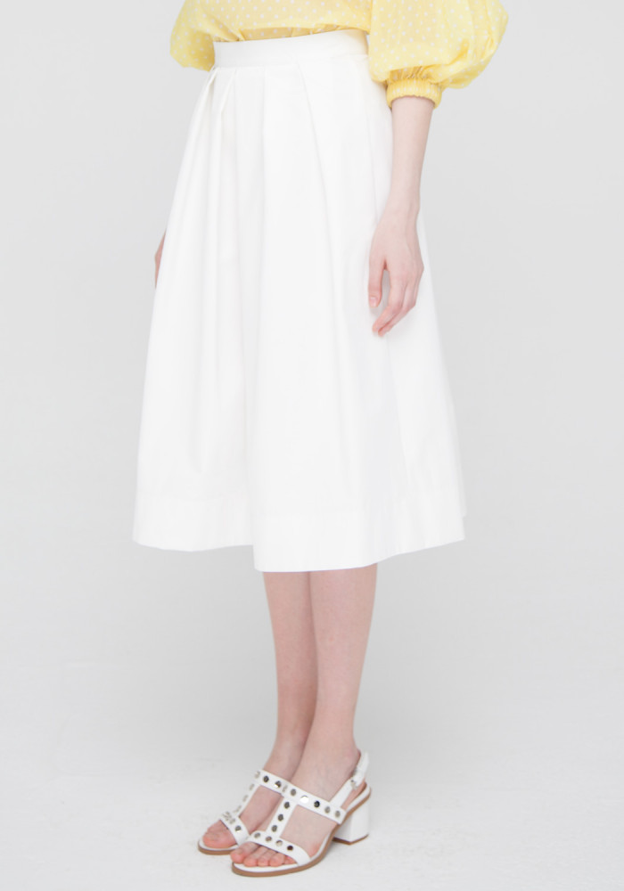 White skirt with pleats Paige