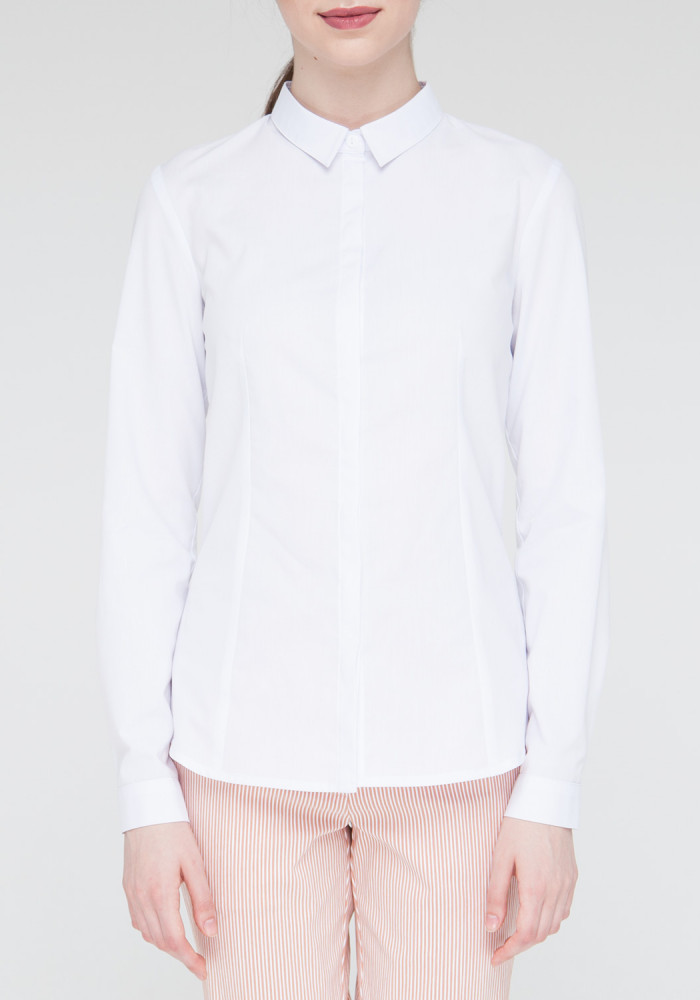 "White classic office shirt ""Chizana"""